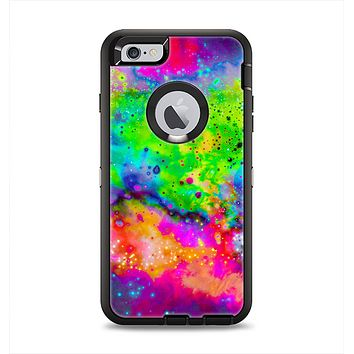 The Neon Splatter Universe Apple iPhone 6 Plus Otterbox Defender Case Skin Set