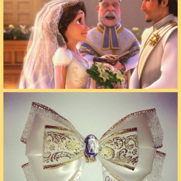 Tangled Ever After Rapunzel wedding disney hair bow