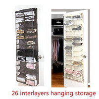26-Pocket Shoe Rack Storage Organizer Holder Hook Folding Hanging on Door Closet