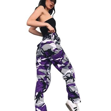 New Women High Waist Camouflage Pants Fashion Pantalon Femme Trouser Plus Size 3XL Sweatpants Streetwear Camo Pants Female X1