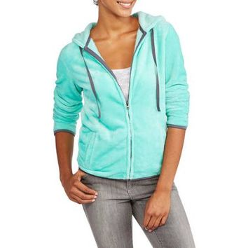 No Boundaries Juniors Fuzzy Hooded Jacket - Walmart.com