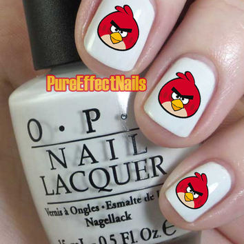 Angry Bird Nail Decals