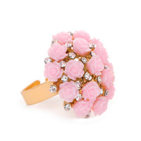 Bouquet Of Roses Ring - Pink