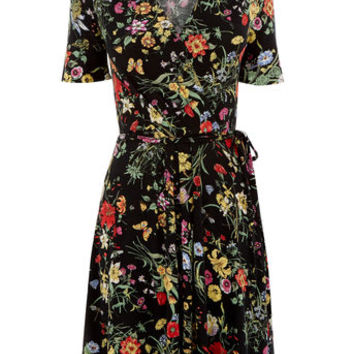 SPRING BOUQUET WRAP DRESS