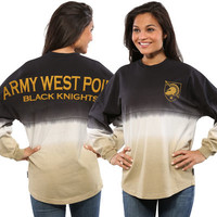 Army Black Knights Women's Ombre Long Sleeve Dip-Dyed Spirit Jersey - Black