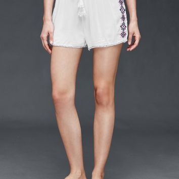 Embroidered woven shorts | Gap