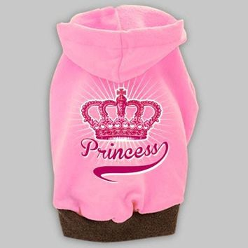 Princess Dog Hoody || Cute Girl Dog Sweater || Doggietshirts.com