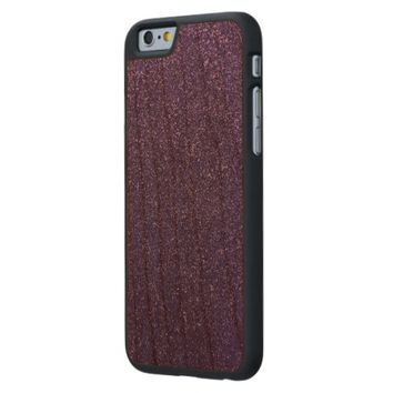 Cool Awesome Purple Glitter Carved® Cherry iPhone 6 Case