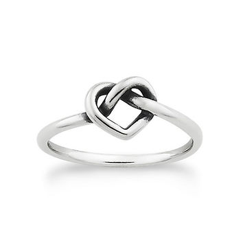 Delicate Heart Knot Ring