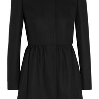 REDValentino - Pleated wool-blend coat