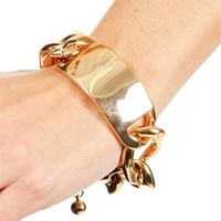 Gold XL ID Bracelet
