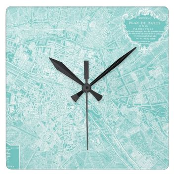 Plan de Paris Wall Clock