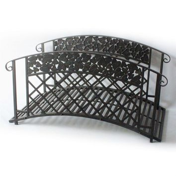 Mesa Brown 4-Ft Outdoor Metal Garden Bridge - Supports up to 250 lbs