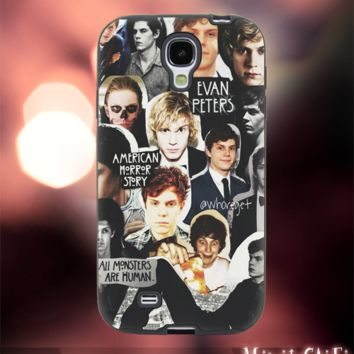 MC12Y,11,Evan Peters,American Horror Story -Accessories case cellphone- Design for Samsung Galaxy S5 - Black case - Material Soft Rubber