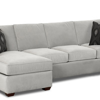 Color Customizable Chaise Sectional Queen Sleeper Sofa -Lincoln by Savvy