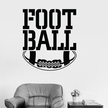 Vinyl Wall Decal Football Ball Sport Sports Fan Kids Room Stickers Mural Unique Gift (ig3239)