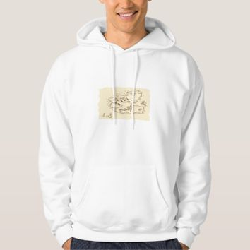 Pirate Treasure Map Sailing Ship Drawing Hoodie