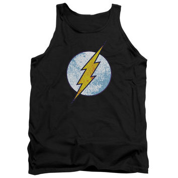 DCO/FLASH NEON DISTRESS LOGO - ADULT TANK - BLACK -
