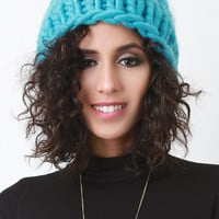 Bright Oversize Knit Beanie