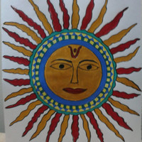 Madhubani Painting - The Sun