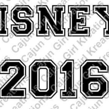 Disney 2016 All Star Disney Trip Printable Digital Iron On Transfer Clip Art DIY Tshirts Instant Download