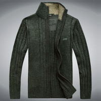 Mens Trendy Zip-Up Sweater