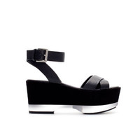 BLOCK WEDGE WITH ANKLE STRAP - Woman - New this week - ZARA United States