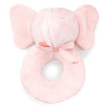 Plush Elephant Rattle, Pink - Ralph Lauren Childrenswear