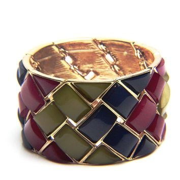 Rectangle Woven Stretch Bracelet