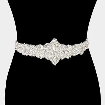 Rhinestone wedding belt #WB6824