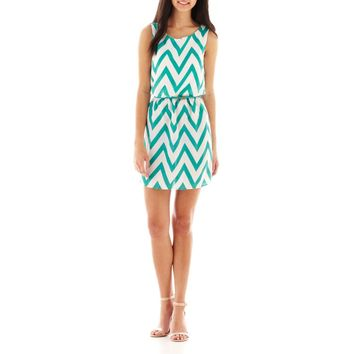 jcpenney - My Michelle Sleeveless Chevron Print Dress - jcpenney