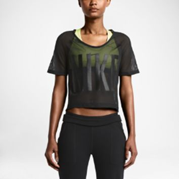 nike grx mesh crop women 39 s training top from nike. Black Bedroom Furniture Sets. Home Design Ideas