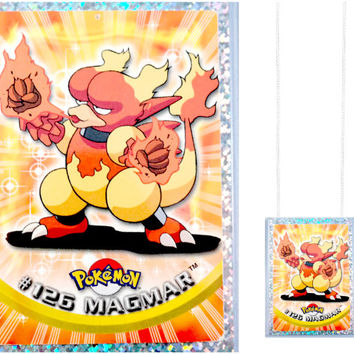 VINTAGE Pokemon Card Necklace - Magmar