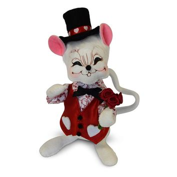 Annalee Dolls 2018 6in Valentine Boy Mouse Plush New with Tags