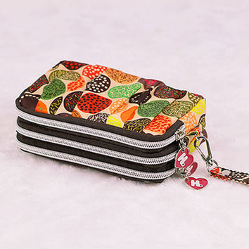 Pleated Zipper Coin Purse