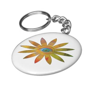 Yellowish Eye Flower Keychain