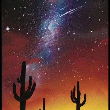 Stars and Cactus painting