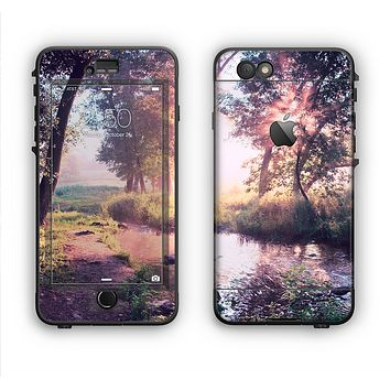 The Vivid Colored Forrest Scene Apple iPhone 6 Plus LifeProof Nuud Case Skin Set