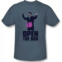 Saturday Night Live Open the Box Adult Slate T-shirt - Saturday Night Live - | TV Store Online