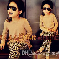 Children Clothes 2014 Children's new winter baby leggings leopard girl's leggings pants top quality.