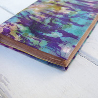 Handmade Journal, notebook, diary,  colorful sky , antiqued paper