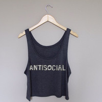 antisocial too sassy for you mean tumblr hearts muscle tank sweatshirt crewneck white grey cute hipster