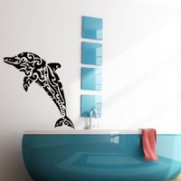 Wall Decals Dolphin Decal Vinyl Sticker Bathroom Art Home Decor Bedroom Interior Window Decals Living Room Art Murals Chu1411