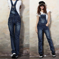 Denim Slim Cool Straight Pockets Casual Romper Jumpsuits