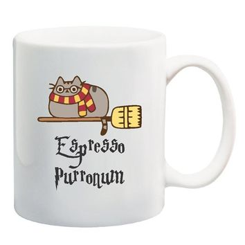 Espresso Purronum, Harry Potter Cat, Harry Potter Mug, funny mug, cat mug, harry potter cat mug, wife gift, daughter gift, husba