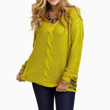 Lime-Green-Knit-Open-Side-Sweater