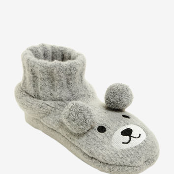 Bear Face Cozy Slippers
