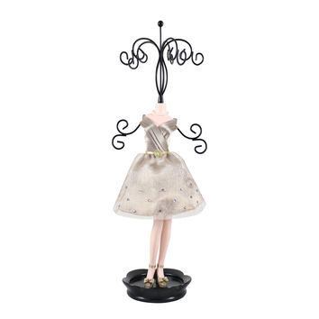 "Royal Blossom Mannequin Jewelry Holder 4.76""""X14.53""""X3.46"""" Champagn: Champagn"
