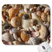 Seashell Variety Tropical Mouse Mat Mouse Pads from Zazzle.com