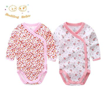 2017 New Brand 2PCS/LOT Cartoon Style Baby Romper Infant Baby Clothing Long Sleeve Baby Christmas Costumes Cotton baby Clothes